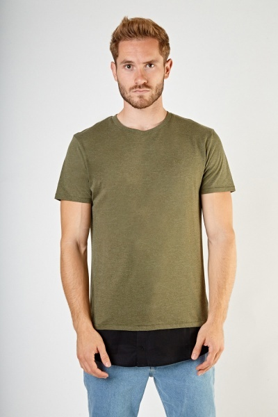 Basic Mens Shirt Hem Top