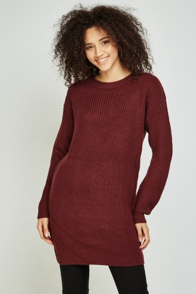 Lace Up Back Knit Jumper