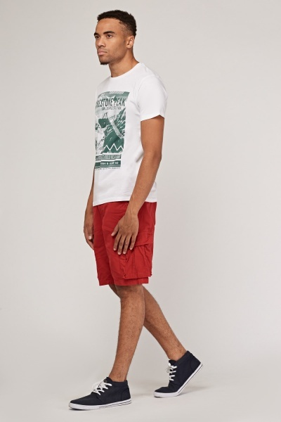 Red Regular Fit Short