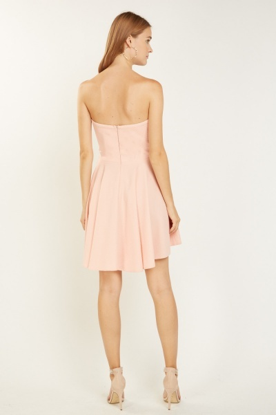Textured Sweetheart Hi-Lo Dress
