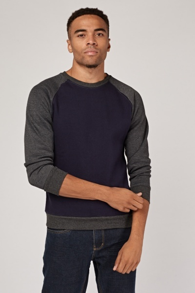 Raglan Sleeve Colour Block Sweatshirt