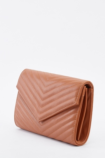 Faux Leather Envelope Shoulder Bag