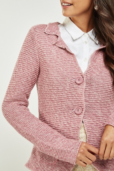 Chunky Speckled Knit Cardigan