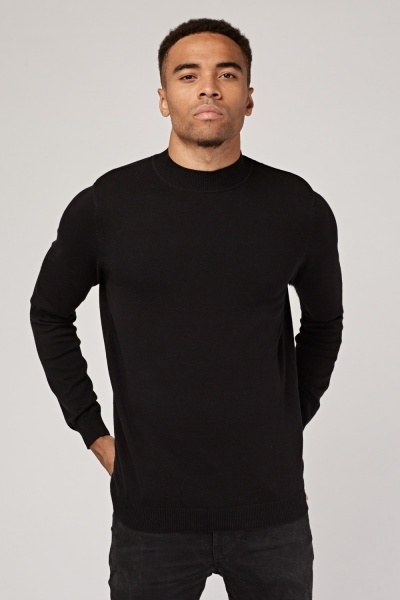 Thin Knitted High Neck Jumper