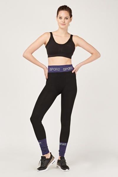 Contrasted Sports Leggings