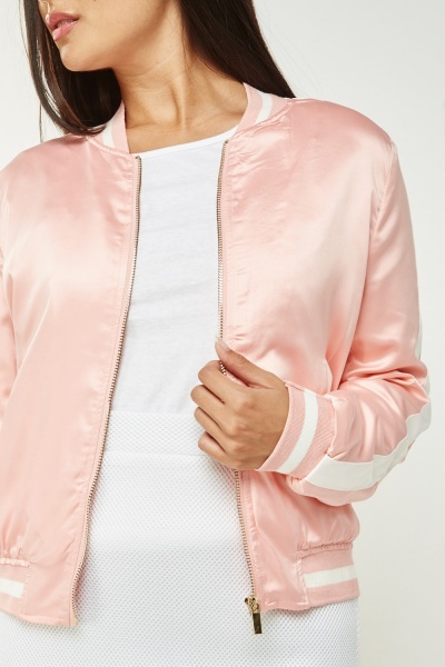 Striped Side Sateen Jacket