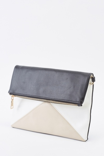 Colour Block Clutch Bag
