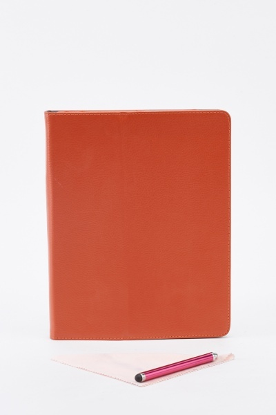 Faux Leather Ipad Case With Stylus Pen