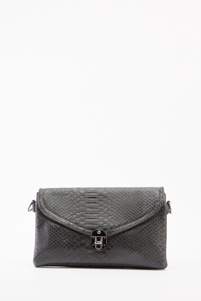Mock Croc Clutch Bag