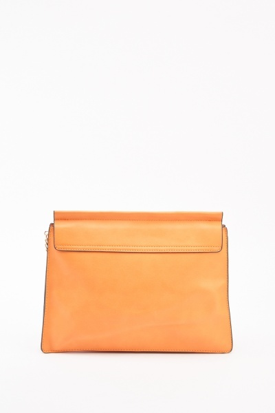 Orange Chained Shoulder Bag