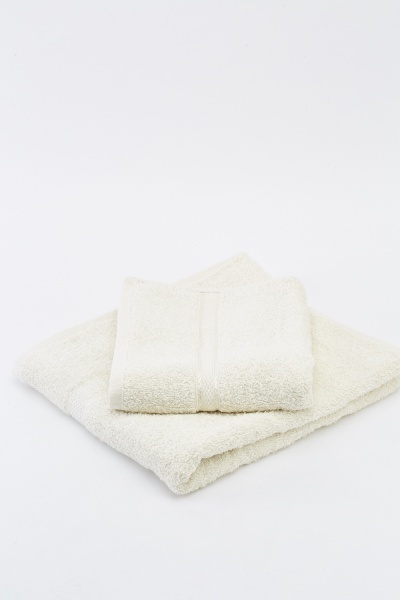 Cream 2 Piece Towel Set