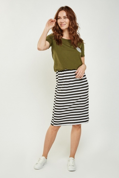 Green Casual Midi Dress