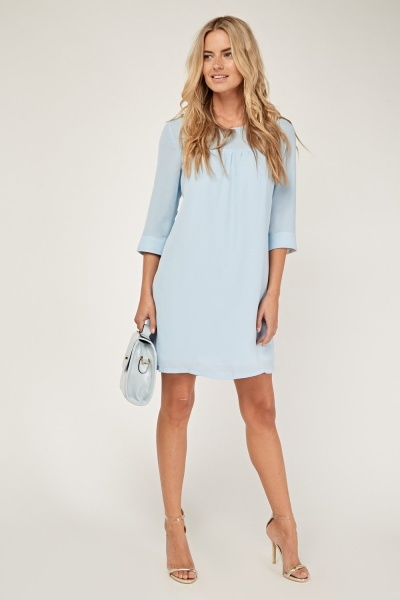 Sheer Tie Up Shift Dress