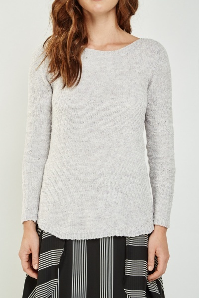 Soft Knit Grey Jumper
