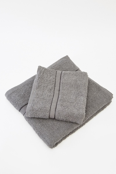 Charcoal 2 Piece Towel Set