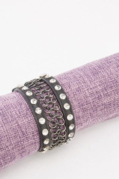 Looped Mixed Cuff Bracelet