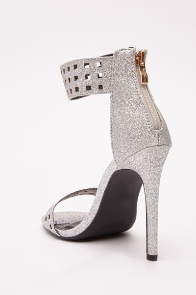 Glittered High Heeled Sandals