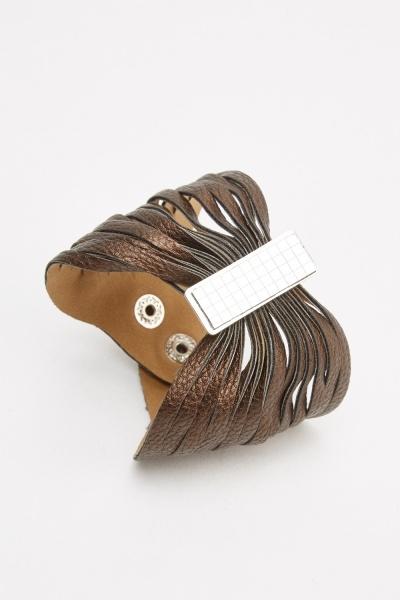Multi Detailed Cuff Bracelet