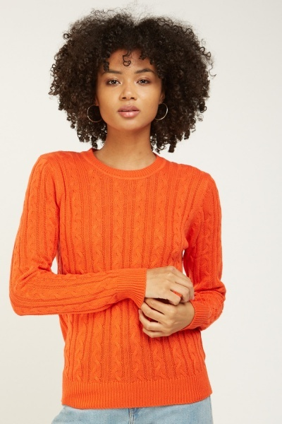 Platted Cable Knit Jumper