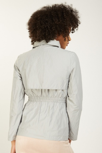 Structured Gathered Waist Jacket
