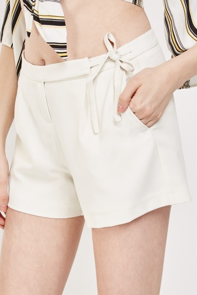 Mid Rise Culotte Shorts