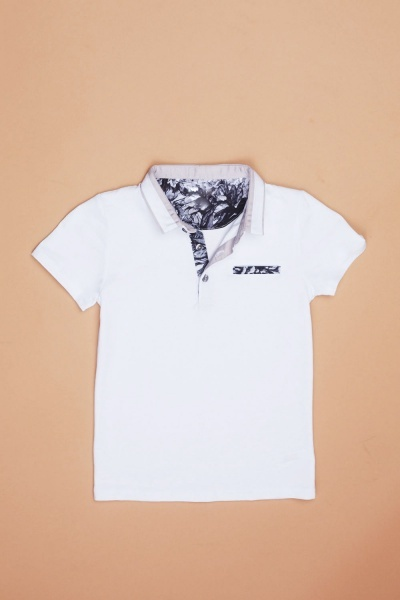 Printed Trim Boys Polo T-Shirt