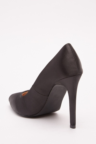 Sateen Court Heels