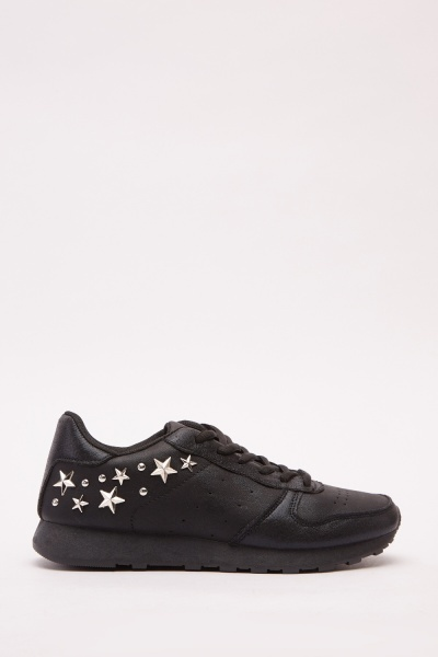 Star Detail Side Contrast Trainers