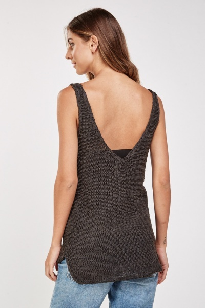 Casual Knitted Vest Top