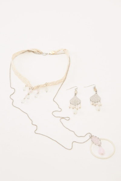 Choker Necklace And Earrings Set