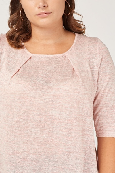 Pink Speckled Tunic Top