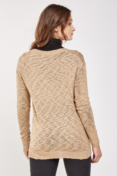 Metallic Insert Cardigan