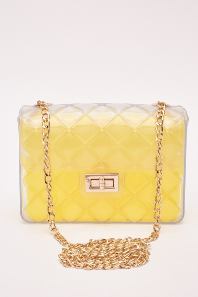 Classic Quilted Clear Jelly Bag