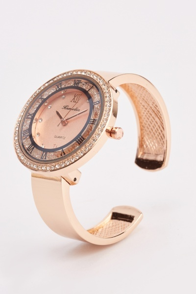 Diamante Face Analog Watch