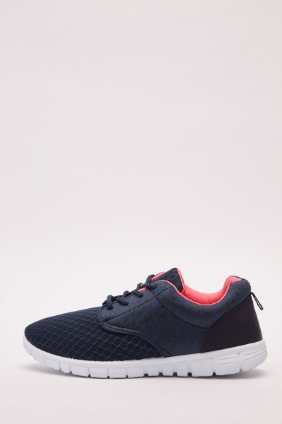 Perforated Lace Up Trainers