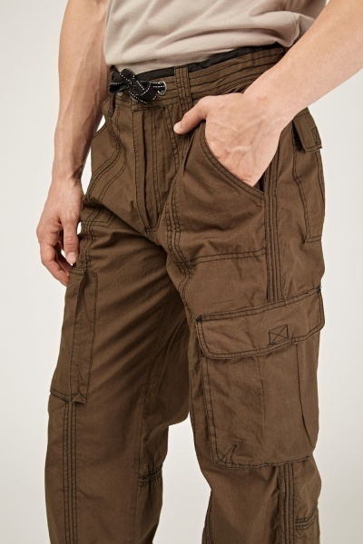 Straight Fit Combat Trousers