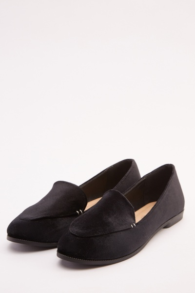 Classic Velveteen Flat Loafers