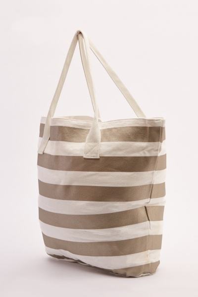 Stripe Beach Tote Bag Set