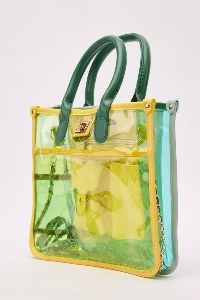 Transparent Ombre Tote Bag