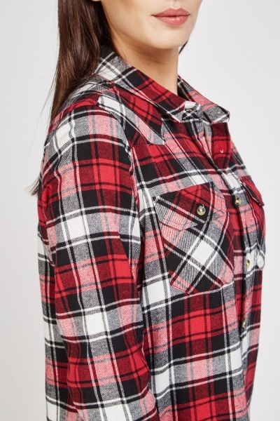 Casual Long Plaid Shirt