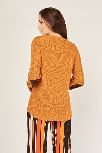 Elbow Patch Knitted Jumper