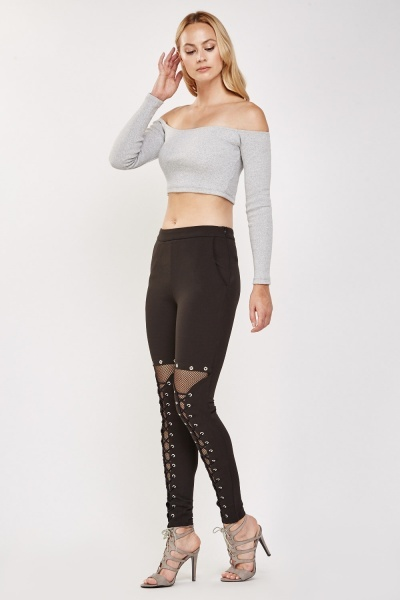 Eyelet Fish Net Leggings