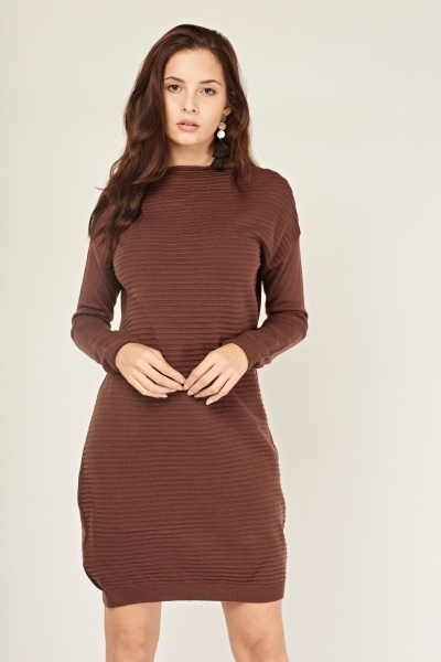 Ribbed Contrast Jumper Dress