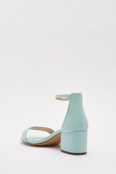 Low Heel Suedette Sandals
