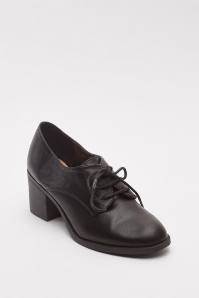 Low Top Block Heel Shoes