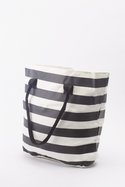 Stripe Tote Bag Set