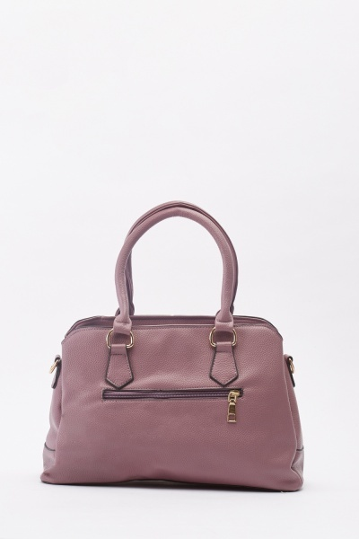 Textured Faux Leather Frame Bag