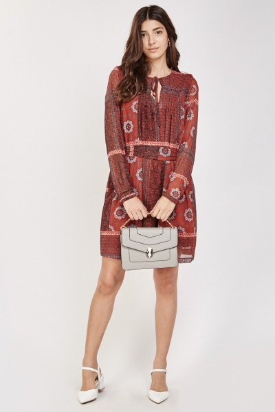 Arabesque Print Tunic Dress