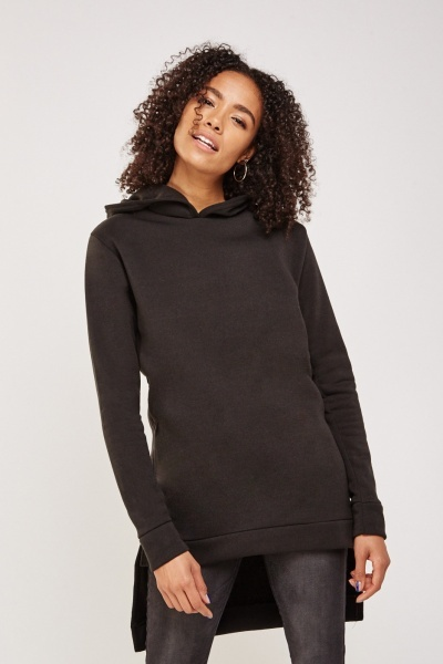 Hooded Dip Hem Sweatshirt