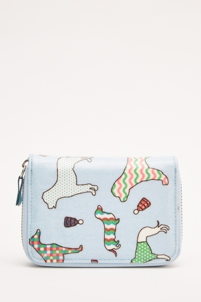 Hi-Shine Dog Printed Purse